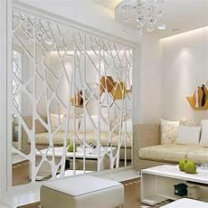 decoration murale design diy creative geometric patterns mirror surface wall