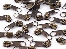 reißverschluss schieber kaufen 10 rei 223 verschluss zipper schieber altmessing f 252 r 5mm