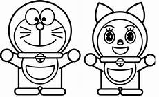 Kumpulan Sketsa Gambar Mewarnai Hitam Putih Kartun Dorami