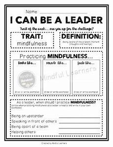 i can be a leader worksheets by mindful learners tpt