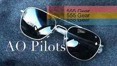 review american optical ao original pilots aviator sunglasses made in usa youtube