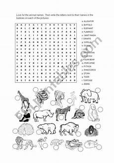 animal word search worksheets 14374 word search animals esl worksheet by ernestriver