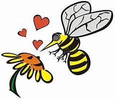 Malvorlage Biene Und Blume Liebe Zwischen Biene Und Blume Stock Abbildung