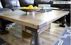 white square ish version of the balustrade coffee table diy projects