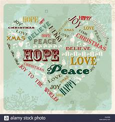 vintage merry christmas concept words in heart shape vector 52033666 alamy
