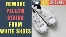 how to get yellow stains out of white shoes how to remove yellow stains from white shoes youtube
