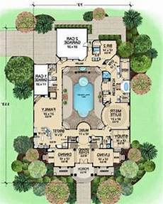 mediterranean house plans with pools pool modern single story mediterranean house plans