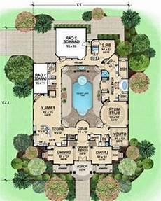 mediterranean house plans with pools pool modern single story mediterranean house plans