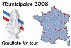 municipales 2008 r 233 sultats du 1er tour dans les 20 plus