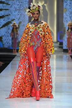 my collection in fashion show at fashion week and fashion trends east kalimantan cultural made