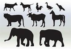 animals silhouette collection free vectors