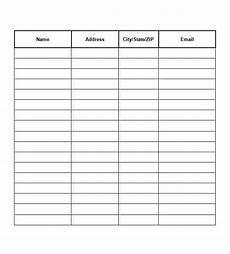 9 free sign up sheet templates word excel formats