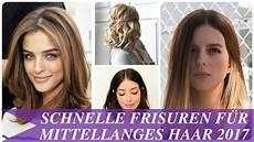 Frisuren Mittellanges Haar - schnelle frisuren f 252 r mittellanges haar 2017