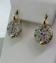 pomellato earrings pomellato sabbia gold sapphire earrings at 1stdibs