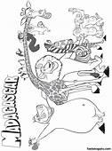 Printable Disney Madagascar Main Characters Coloring Pages