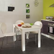 Table De Cuisine Rectangulaire Contemporaine Blanche Daliane