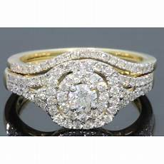 wholesale diamonds 10k yellow gold 96 carat womens real diamond engagement ring wedding bands