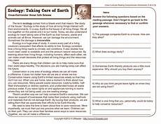 taking care of earth worksheet for 4th 5th grade lesson planet