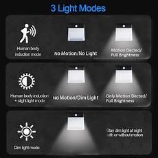 100 led solar pir motion sensor light outdoor garden