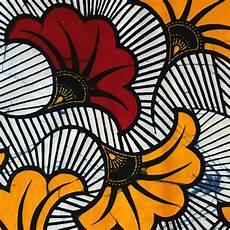 fleur tissu mariage tissu wax fleurs de mariage bordeaux orange x10cm
