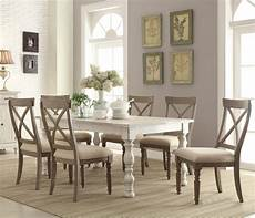 riverside furniture aberdeen 7 piece farmhouse dining