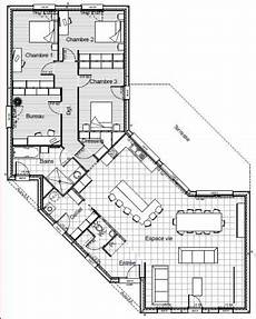 maison en v plain pied 156m2 maison en v