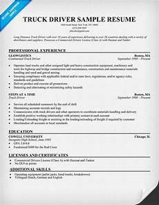 truck driver sle resume resumecompanion com resume sles across all industries lpn