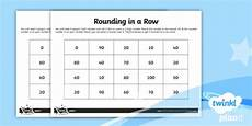 rounding in a row rounding to the nearest 10 worksheet