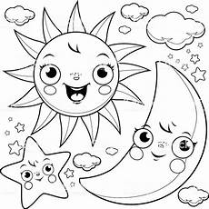 sun and moon coloring pages coloring pages for