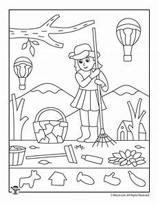 Vorschule Malvorlagen Junior Druckbare Versteckte Herbstbilder F 252 R Kinder Woo Jr