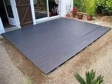 composite pour terrasse poser une terrasse composite sur lambourdes et plots
