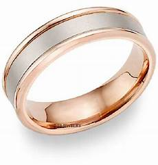 mens 18k white and rose gold wedding band ring 6mm ebay