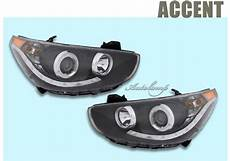 hyundai accent 2012 headlight bulb audi style projector headlights for hyundai 2012 2016 new accent