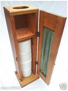 Rustic Country Style Wood Toilet Paper Storage Cabinet W