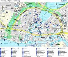 Hamburg Sehenswürdigkeiten Karte - stadtplan hamburg deutschland stadtpl 228 ne hamburg
