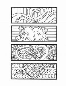 diy romantic bookmarks set of 4 printable coloring page