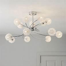 pallas chrome effect 14 l ceiling light departments diy at b q