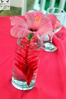 jamaican themed bridal shower ideas flowers of jamaica centerpiece detail jamaica