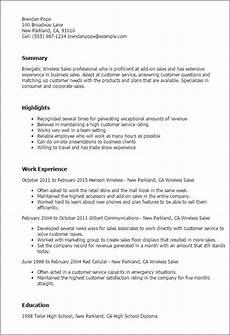 1 wireless sales resume templates try them now myperfectresume