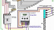 3 phase wiring installation in house 3 phase distribution board diagram urdu hindi youtube