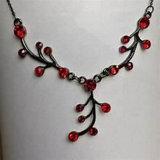 schwarze kette mit roten steinen kleiderkorb de