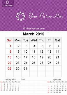 march 2015 calendar template vector free 123freevectors