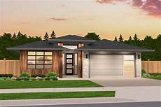 contemporary house plans single story functional modern prairie one story house plan 85229ms
