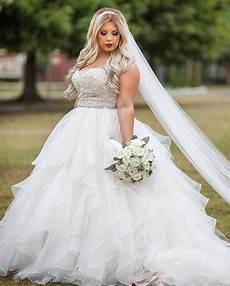 18 romantic and eye catching plus size wedding dresses chicwedd