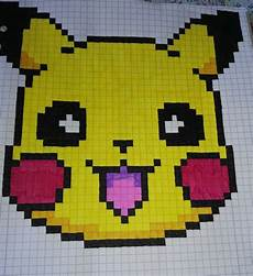 Bilder Zum Nachmalen Pixel Hier Habe Ich Pikatchu Mit Pixel Gezeichnet
