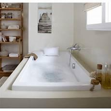 de baignoire baignoire rectangulaire l 180x l 80 cm blanc sensea