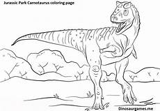 dinosaur jurassic park carnotaurus coloring page