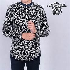 jual baju batik pria kemeja pria batik koko kerah shanghai black original di lapak kemaja batik