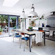 modern rustic kitchen with oversized lights decorating housetohome co uk