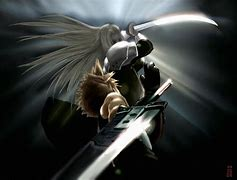 Image result for FF7 Cloud vs Sephiroth